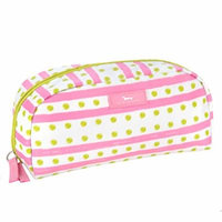 SCOUT Gossip Girl Jewelry and Cosmetic Bag, Quilted Liner, Interior Zipper Pocket, Water Resistant, Zips Closed, Dot Flash