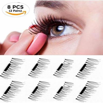 Magnetic Eyelashes Premium Quality False Eyelashes Set for Natural Look - Best Fake Lashes Extensions One Two Cosmetics 3D Reusable (8 PCS)