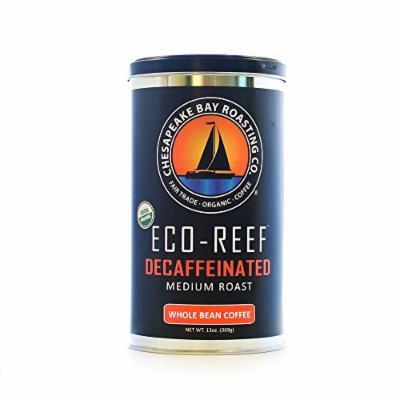 Chesapeake Bay Roasting Company, Organic, Fair Trade, Eco-Reef Decaffeinated (Medium Roast) – Whole Bean – 13-Ounce Can