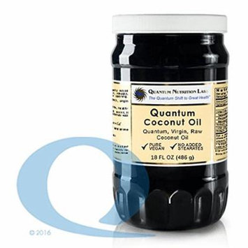 Quantum Coconut Oil, 36 Oz Virgin (2 Bottles), Raw, Organic, Vegan Coconut Oil-One of the Healthiest Oils in the World