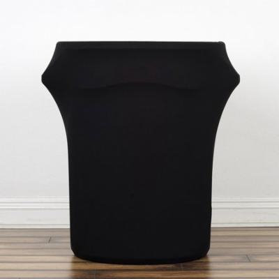 Efavormart New 41-50 Gallons Commercial grade Black Stretch Spandex Round Waste Trash Bin Container Cover