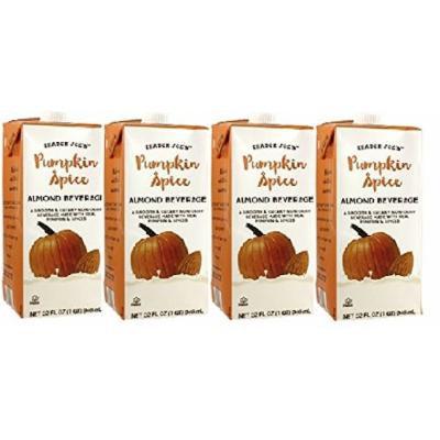 Trader Joes Pumpkin Spice Almond Beverage 32oz, 4-pack