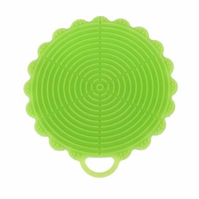 DZT1968® Silicone Dish Washing Sponge Scrubber Kitchen Cleaning antibacterial Tool