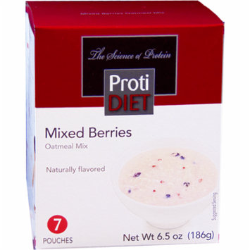 PROTIDIET - High Protein Diet Oatmeal |Mixed Berries| Low Calorie, Low Sugar, Low Fat (7/Box)