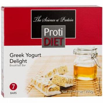 PROTIDIET - High Protein Diet Breakfast Bar |Greek Yogurt Delight| Low Calorie, Low Sugar, Aspartame Free (7/Box)