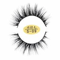DZT1968 Natural 3D Eyelashes 100% faux Mink Hand-made False Lashes Soft 1 Pair