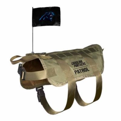 Carolina Panthers Dog Pet Premium Tactical Vest Harness w/ Team Flag XL/BIG