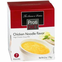 PROTIDIET - High Protein Diet Soup |Chicken Noodle| Low Calorie, Fat Free, Sugar Free (7/Box)