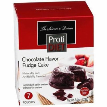 PROTIDIET - High Protein Diet |Chocolate Fudge Cake| Low Calorie, Low Fat, Aspartame Free (7/Box)