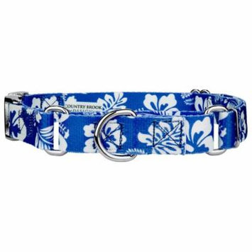 Country Brook Petz™ Royal Blue Hawaiian Martingale with Premium Buckle