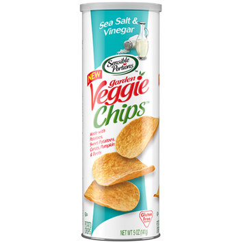 Hain Celestial Sensible Portions Stacked Gargen Veggie Chips, Sea Salt; Vinegar, 5 Oz