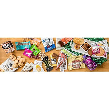 High Protein Healthy Snacks Fitness Box: Mix Of Natural, Organic, Non-GMO, Protein Bars, Cookies, Granola Mix, Jerky, Nuts, Premium Assortment Care Package (30 Count)
