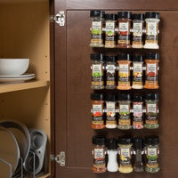 Trademark Global Games Spice Rack Organizer- Cabinet Gripper Clip Strips for Kitchen, Countertop and Pantry Organization and Spices Storage By Lavish Home