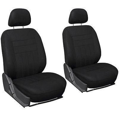 Istiloshoppe Car Accessories Black Mesh Fabric Truck Front Seat Covers Pair detachable headrests Fits Ford