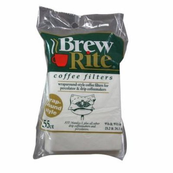 Brew Rite 41-551 Paper Filters - 55 Wrap Around Coffee Maker Filters