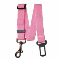 Universal Dog Leash Auto Car Automobile Seatbelt Adapter Seat Belt Dog Leash By Downtown Pet Supply (Pink)