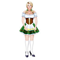 Jointed Oktoberfest Fraulein (Pack of 12)