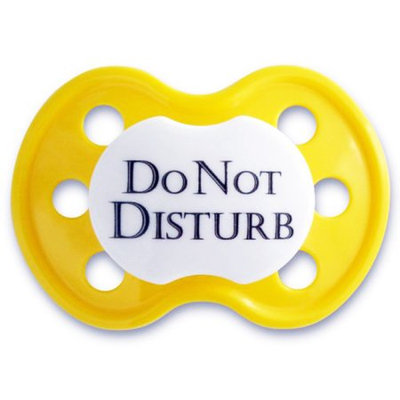 BooginHead Do No Disturb Yellow Pacifier