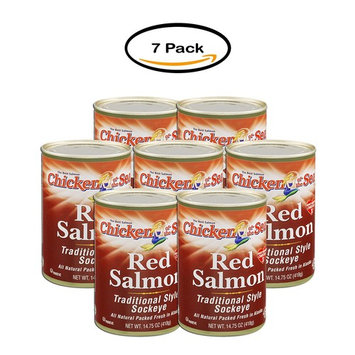 PACK OF 7 - Chicken of the Sea Red Salmon 14.75 oz. Can (7 Packs)