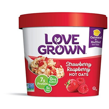 Love Grown Hot Oats, Gluten Free Strawberry Raspberry 2.22 Ounce (Pack Of 8)