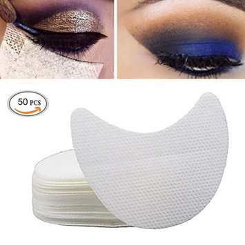 Ochioly 50 Pieces Eyeshadow Shield Under Pad Eyelash Extensions Patch Multifunction Beauty Eye Lip Make Up Tools