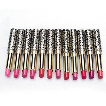 Datework 12pcs Lip Makeup Lot Leopard Moisturizing Lipstick