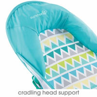 Summer Infant Deluxe Baby Bather - Blue Triangle