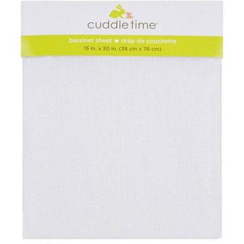 Triboro Quiilt Manufacturing Corporation Cuddletime Bassinet Sheet, White