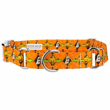 Country Brook Petz™ When Pumpkins Fly Martingale with Premium Buckle