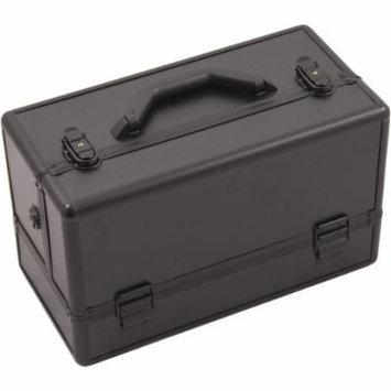 Hiker Basilica Makeup Case Professional Nail Travel Organizer Box, Black Matte, 7 Pound