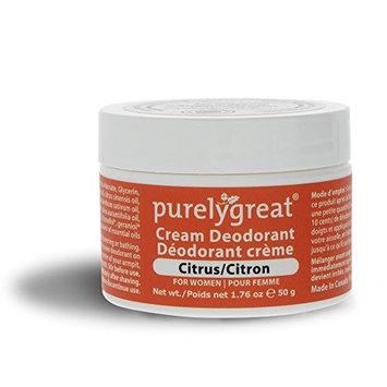 Purelygreat Natural Deodorant for Women, EWG Verified Deodorant, Vegan and Cruelty Free, Aluminum and Paraben Free, All Natural Deodorant - Citrus Scent