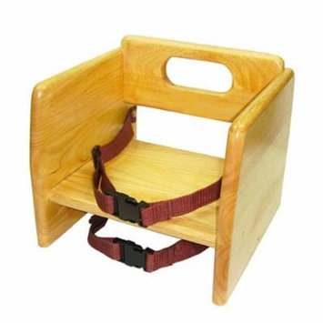 Thunder Group WDTHBS018, Natural Wood Stacking Booster Seat