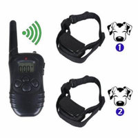Remote LCD 100LV 300M Electric Shock Vibrate Pet Dog Training Collar Waterproof New