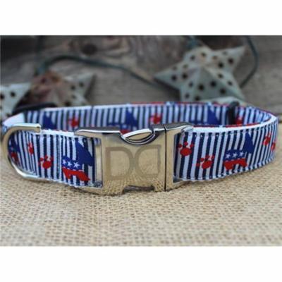 Diva Dog UBS114 Democrat Doggie Dog Collar- Extra Small Sized