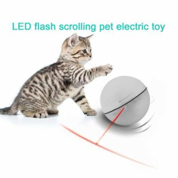 Electric Pet Ball Rolling Pet Toys Funny LED Pet Teasing Toy For Cats Dogs white