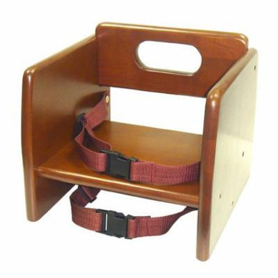 Thunder Group WDTHBS019, Walnut Finish Wood Stacking Booster Seat