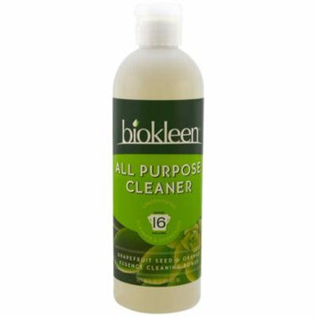 Bio Kleen, All Purpose Cleaner, Concentrated, Grapefruit Seed & Orange, 16 fl oz (pack of 12)