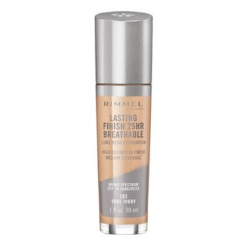 Rimmel Lasting Finish Breathable Foundation - Light Shades - 1.01 fl oz