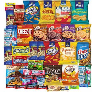 Cookies Chips & Candies Care Package Variety Pack Bundle Assortment Bulk Sampler (45 Count)