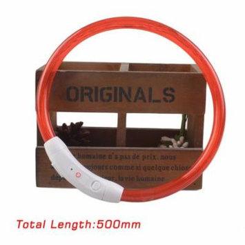 NEW Dogs Necklaces USB Luminous Pet Collar Flashing Light USB Charging Collar Teddy Flash Collar Pet Supplies Night Safety(Red)