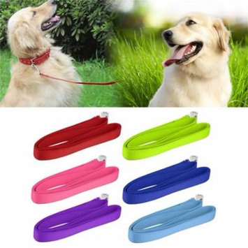 NEW 120*2cm Durable Reusable Nylon Lead Leash Recall Pet Dog Puppy Long Training Obedience Leading Leashes(Green)