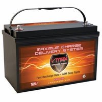 VMAX XTR31-135 Battery Replaces SEARS 27993 Battery, VMAX 12V 135Ah Group 31 Deep Cycle AGM