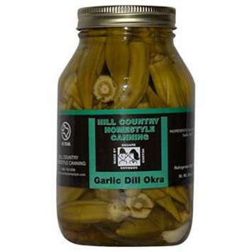 Texas Hill Country Pickled Garlic Dill Okra 30 oz