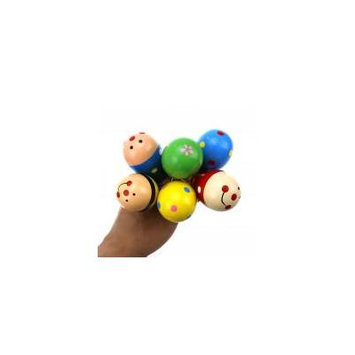 Jeobest 6PCS New Funny Baby Kids Sound Music Gift Toddler Rattle Musical Wooden Colorful Toys MZ(sent randomly)