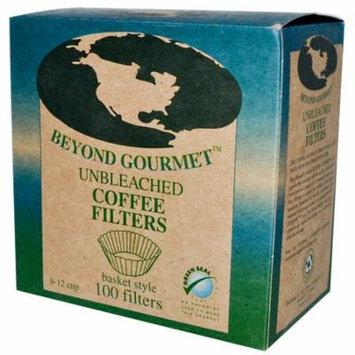 Beyond Gourmet, Unbleached Coffee Filters, Basket Style, 100 Filters(pack of 6)