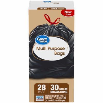 Great Value™ 30G Drawstring Large Trash Bags 28 ct Box