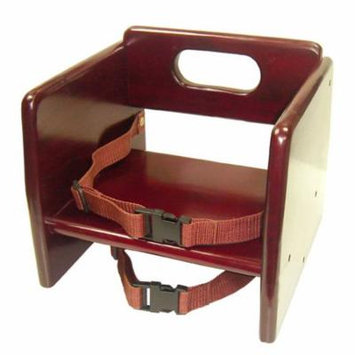 Excellante' Finish Wood Stacking K/D Booster Seat, Mahogany