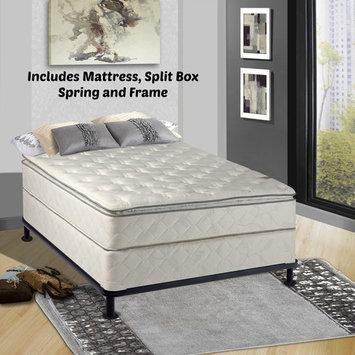 Continental Sleep, 10-Inch Medium Plush Pillowtop, Innerspring type Mattress and 8