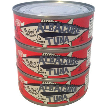 Trader Joe's Albacore Tuna in Water, No Salt Added - 3 Pack