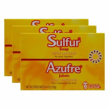 Grisi Bio Sulfur Soap with Lanolin, 4.4 oz (Pack of 3)